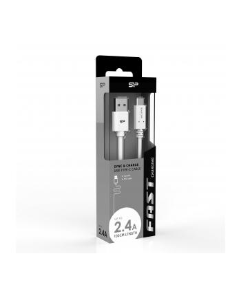 Kabel Silicon Power Boost Link PVC LK10AC, USB - USB typ C 100cm, white
