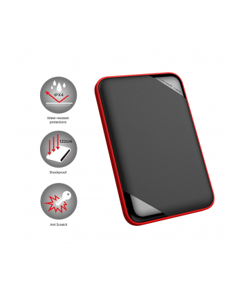 Dysk zewnętrzny Silicon Power ARMOR A62 4TB 2,5'' USB 3.1, black-red
