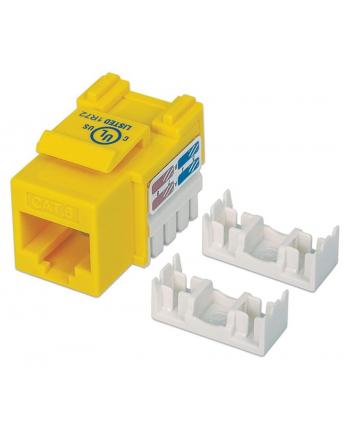 intellinet Moduł Keystone Cat6 UTP RJ45 zaciskany żółty