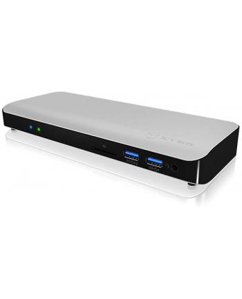 IcyBox Stacja Dokująca z zasilaniem Thunderbolt 3 Type-C, HDMI, czytnik kart SD