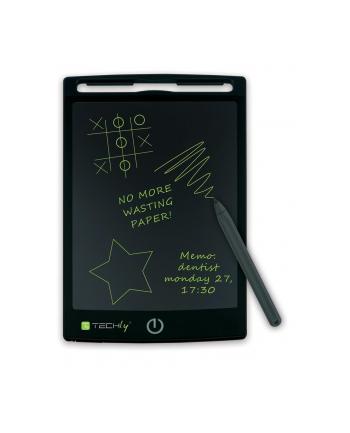 Techly Notatnik elektroniczny LCD 8.5'' tablet do pisania i rysowania czarny