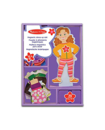 melissa & doug MELISSA Maggie Leigh Magnetic Wooden Dress-Up Doll 13552
