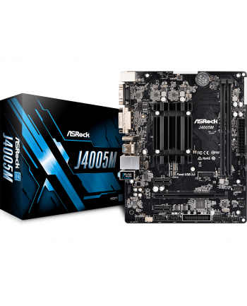 ASRock zintegrowany procesor J4005M, 2xDDR4, VGA, micro-ATX