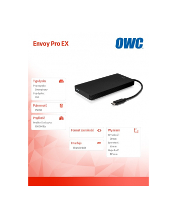 owc Envoy Pro EX 250GB SSD 1800MB/s Thunderbolt 3