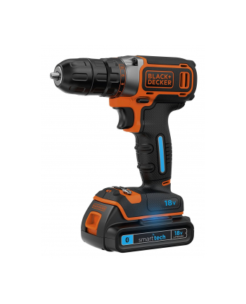 Black&Decker BDCDC18KST SmartTech cordless screw driller + case + rechargeable battery 1.5Ah