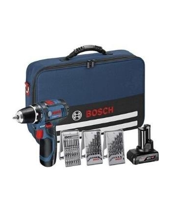 Bosch Professional GSR 12V-15 cordless screw driller + bag + 2 Batteries 4.0Ah + Accessories - 0615990HV1