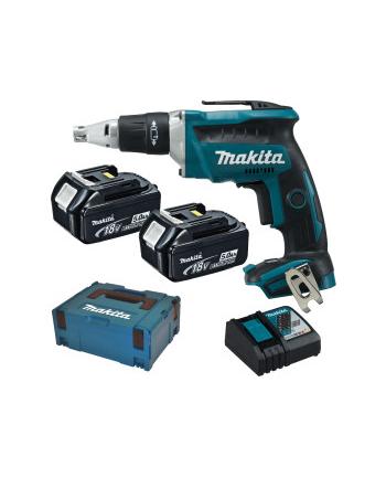 Makita DFS452RTJ cordless drywall screwdriver + MAKPAC + 2 Batteries 5.0Ah