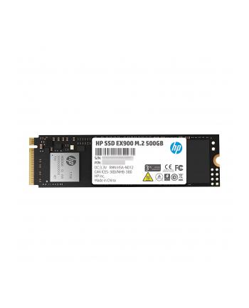 HP Dysk SSD EX900 500GB, M.2 PCIe Gen3 x4 NVMe, 2100/1500 MB/s, 3D NAND TLC