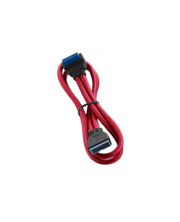 Cablemod ModFlex Right Angle Internal USB 3.0 Extension - Red - 50cm - angled