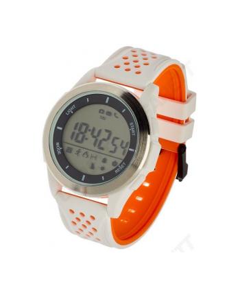 Smartwatch , Zegarek Sportowy Garett Sport 4 Biało - Pomarańczowy