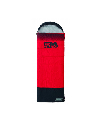 Coleman 2000032334 Sleeping Bag - Black/Red