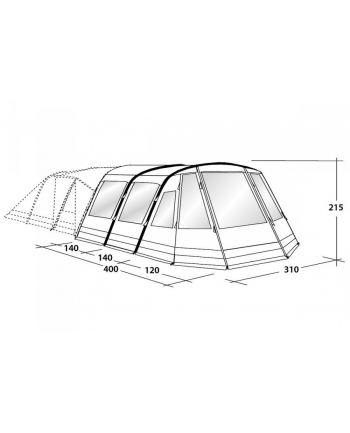 Outwell 110780 Nighthawk 4SA Tent accessories grey 2018 Vestibules grey kids 2018