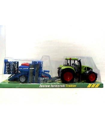 gazelo Traktor wielki z maszyną rolniczą G096151