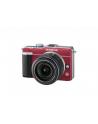 Aparat Cyfrowy, Olympus Pen E-PL1 kit /czerwony (obiektyw EZ-M1442L czarny) - nr 1