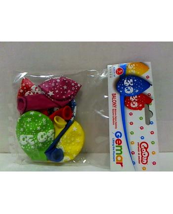 godan Balony 12 z nadr 30, pastel mix 5szt GS110/30W