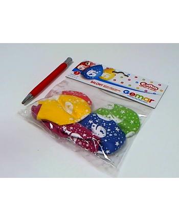 godan Balony 12 z nadr 6, pastel mix 5szt GS110/6W