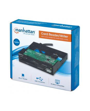 Manhattan Czytnik kart uniwersalny z portem USB 2.0 wewnętrzny 3,5