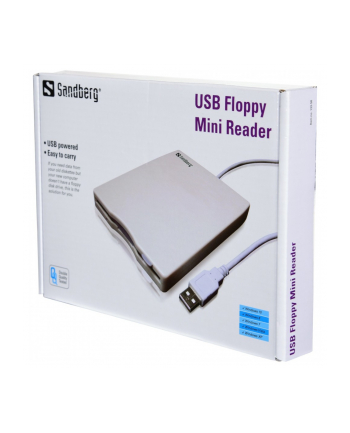 Sandberg zewnętrzny napęd FDD USB Floppy Mini Reader