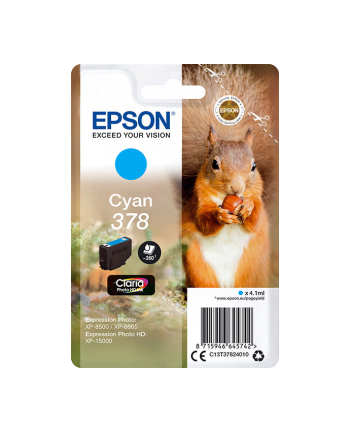 Tusz Epson cyan RF+AM  | 4.1ml | Claria Photo HD