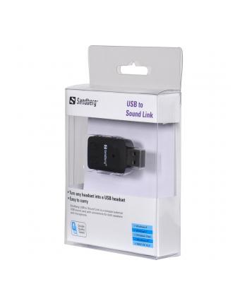 Sandberg zewnętrzna karta dźwiękowa USB to Sound Link