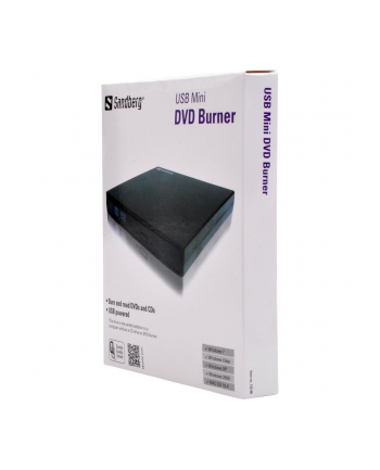 Sandberg zewnętrzna nagrywarka USB Mini DVD Burner