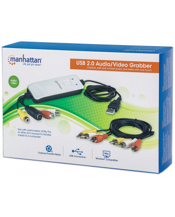 Manhattan AV grabber Hi-Speed USB 2.0, NTSC / PAL / SECAM