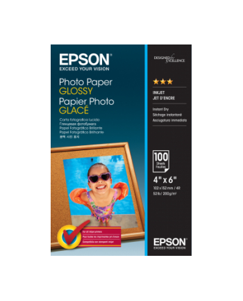 Papier Epson Photo Glossy [ 200g | 10x15cm | 100 sheets ]
