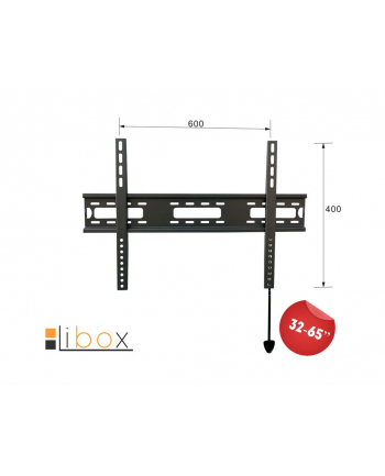 Uchwyt do TV Libox PARYŻ SLIM LB-300 | 32''-65'', VESA 600x400mm, 50 kg