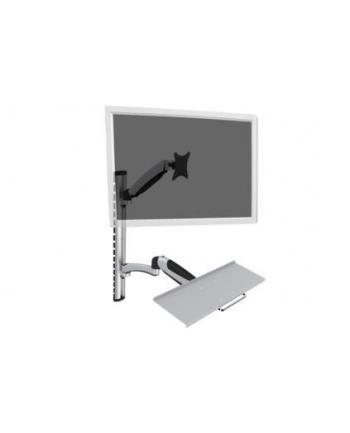 digitus Ramię pojedyncze, 1xLCD + klawiatura, max. 27'', uchylno-obrotowe 360° (PIVOT)