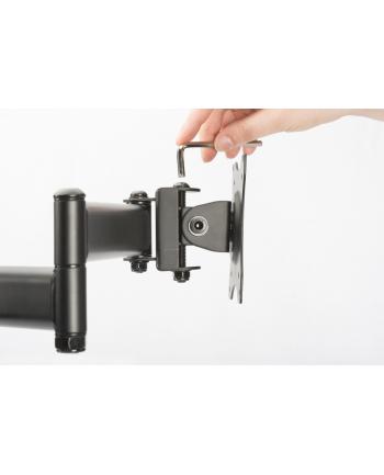 digitus Stojak biurkowy potrójny z zaciskiem, 3xLCD, max. 27'', uchylno-obrotowy 360°