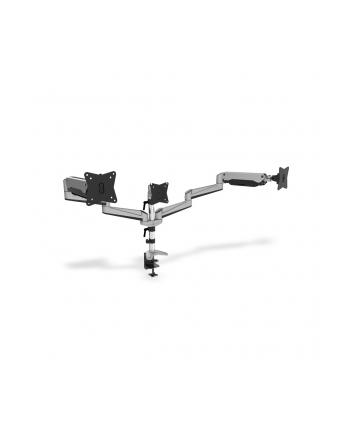 digitus Ramię biurkowe potrójne z zaciskiem, regulowane, 3xLCD,27'',uchylno-obrotowe 360°