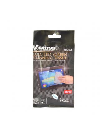 Vakoss CK-625  Ściereczka do czyszczenia ekranu LCD/LED, 20szt
