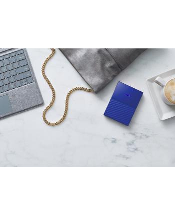 western digital Dysk zewnętrzny WD My Passport, 2.5'', 2TB, USB 3.1, niebieski