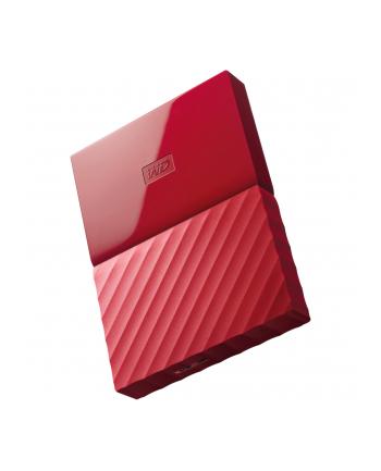 western digital Dysk zewnętrzny WD My Passport, 2.5'', 2TB, USB 3.1, czerwony