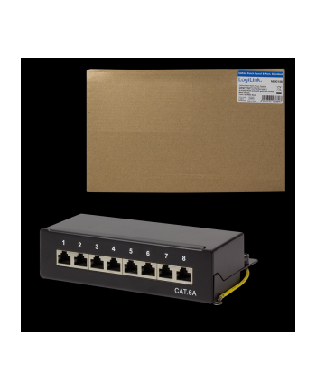 LOGILINK- Patch Panel Desktop Cat.6A STP 8 ports, Black