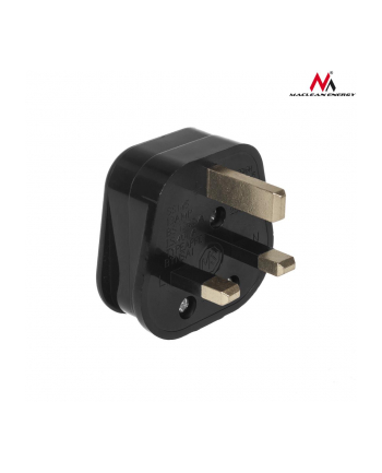 Maclean MCE193 Wtyk UK czarny do montażu na kabel 13A 230V UK 3 Pin