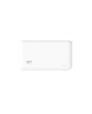 Silicon Power S100 Power Bank 10000mAH, podwójne wyjście USB, LED, Biały