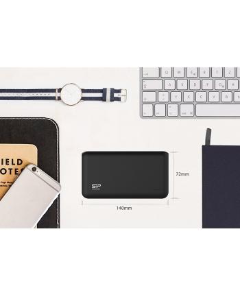 Silicon Power S150 Power Bank 15000mAH, podwójne wyjście USB, LED, Czarny