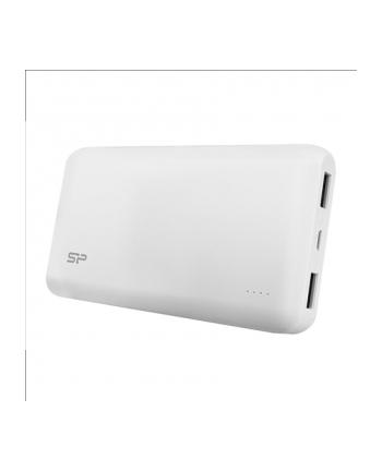 Silicon Power S150 Power Bank 15000mAH, podwójne wyjście USB, LED, Biały