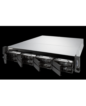 QNAP 8-Bay TurboNAS, SATA 6G, AMD 4C 2,1GHz, 4GB, 4x GbE LAN, 2x10Gb, w/o rails
