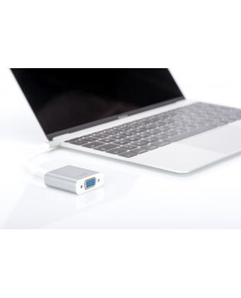 digitus Adapter VGA FullHD 75Hz USB 3.0 Typ-C, obudowa aluminiowa, długość