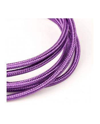 tb Kabel USB-Micro USB 1.5 m fioletowy sznurek