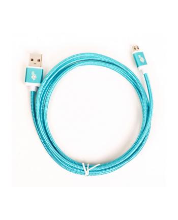 tb Kabel USB-Micro USB 1.5 m błękitny sznurek