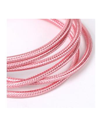 tb Kabel USB-Micro USB 1.5 m różowe złoto sznur