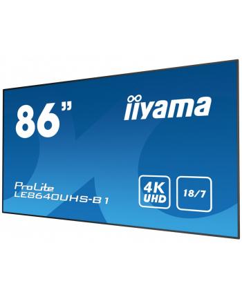 iiyama Ekran 84  LE8640UHS-B1 4K,OPS,18/7,LAN,IPS,DP.