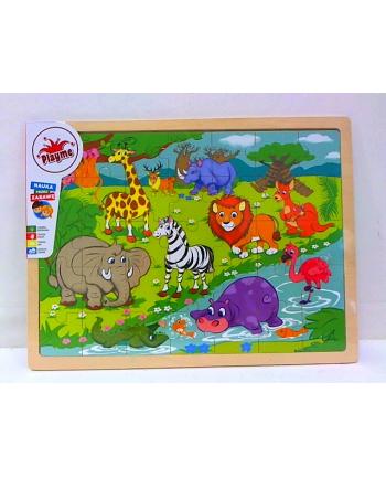 brimarex Układanka drewniana puzzle dzikie zwierzęta 10M+