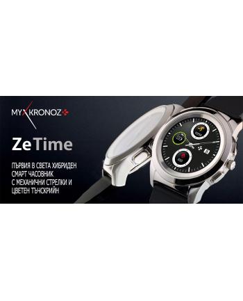 mykronoz Smartwatch ZeTime Premium Regular różowe złoto/skóra brąz vintage