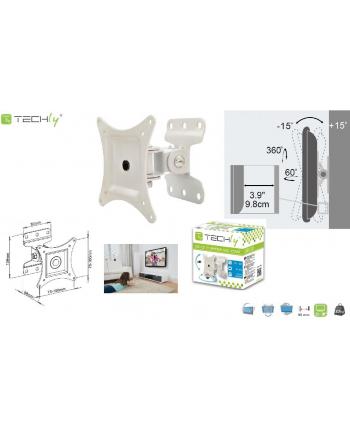 techly Uchwyt ścienny do TV LCD/LED 13-30cali 23kg VESA pełna regulacja biały
