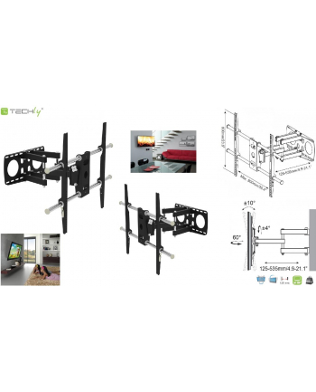 techly Uchwyt ścienny do TV LCD/LED 50-100cali 80kg VESA