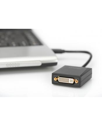 digitus Adapter graficzny DVI 1080p FHD na USB 3.0, aluminiowy